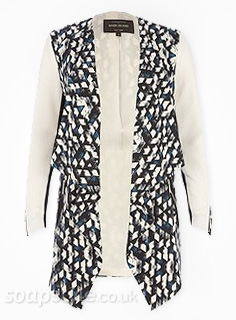 Alya Nazir's Waterfall Pattern Zip Sleeve Jacket in Corrie - Details - SoapStyle