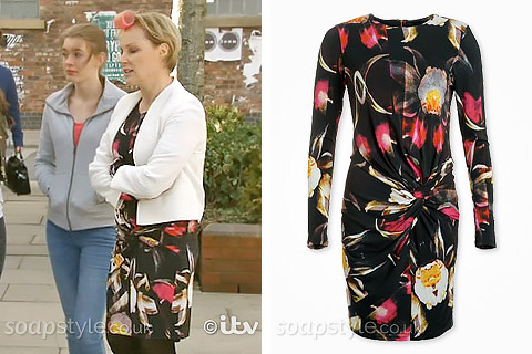 Sally Webster's Floral Dress - Gail's Wedding - Corrie - Where From - SoapStyle