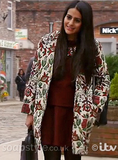 Alya's Embroidered Coat - Corrie - Episode - SoapStyle
