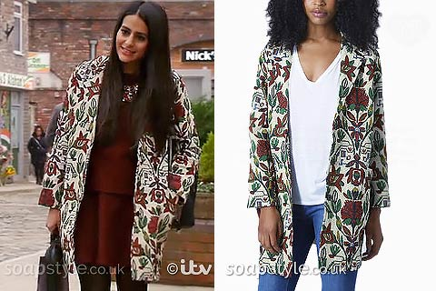 Alya's Floral Embroidered Coat - Corrie - Where From - SoapStyle