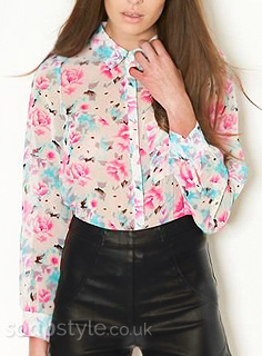 Beth's Floral Print Shirt / Blouse