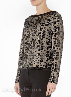 Liz's Black Sequin Top