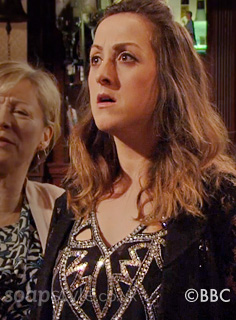 Sonia's Silver & Black Embellished Top - EastEnders - Episode - SoapStyle