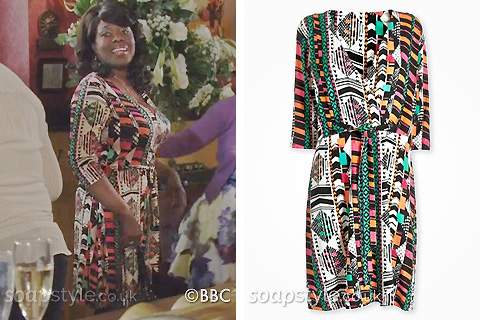 Claudette's Tribal Wrap Dress - EastEnders - Details - SoapStyle
