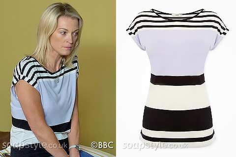Kathy's Lilac & Black Stripe Top / Tee
