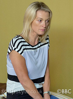 Kathy's Stripe Top in EastEnders - SoapStyle