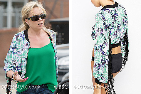 Picture of a match for Roxy Mitchell's bomber jacket in EastEnders