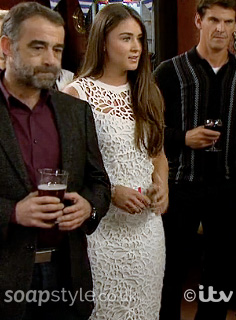 Sophie's White Dress / Outfit in Coronation Street Live - SoapStyle