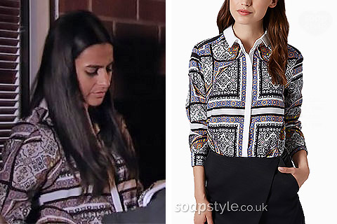 Alya's Shirt in Coronation Street - SoapStyle