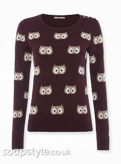 Mary's Owl Jumper in Coronation Street - SoapStyle