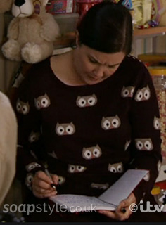 Mary's Owl Jumper in Coronation Street – SoapStyle