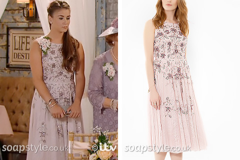 Sophie's Bridesmaid Dress - Sally's Wedding in Corrie - SoapStyle