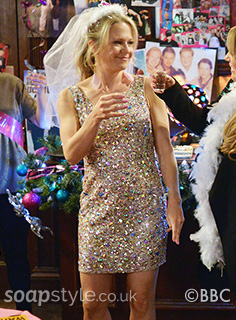 Linda's Hen Party Dress in EastEnders - SoapStyle
