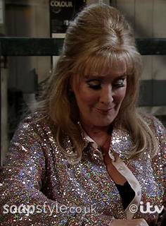 Liz's Sequin Shirt in Coronation Street - SoapStyle