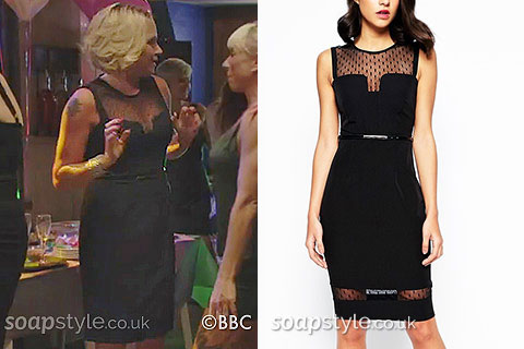 Roxy's Black Engagement Party Dress in EastEnders - SoapStyle
