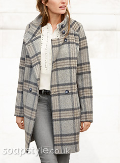 Tess' Grey Check Coat
