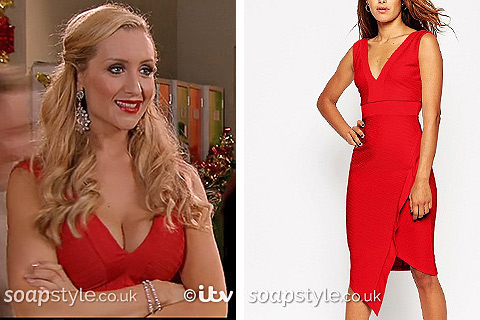 Eva's red dress in Coronation Street – SoapStyle
