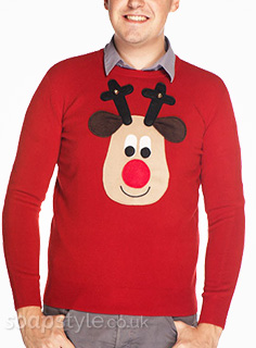 Ken & Eccles' Rudolph Reindeer Christmas Jumpers