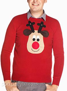 Ken & Eccles' Rudolph Reindeer Christmas Jumpers