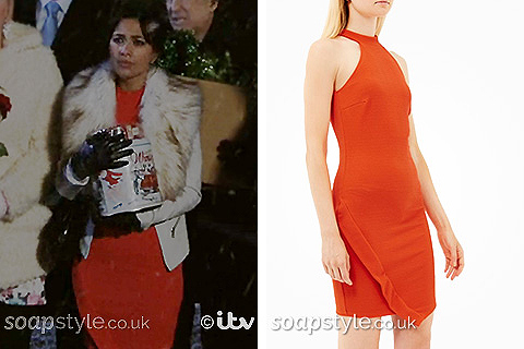 Priya's Orange Dress in Emmerdale - SoapStyle