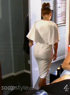 Maxine's Wedding Vow Cape Dress in Hollyoaks - SoapStyle