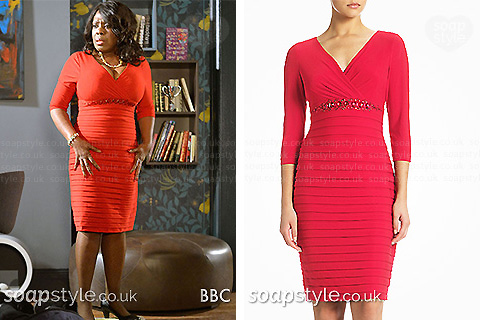 Claudette's red dress in EastEnders - SoapStyle