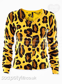 Kim's Yellow Leopard Pattern Cardigan