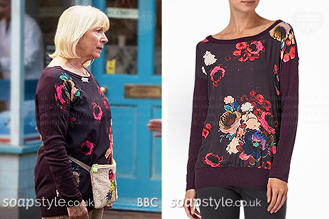 Picture of a match for Pam's floral jumper top in EastEnders