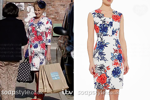 Sally's floral dress in Coronation Street - SoapStyle