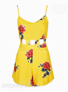 Maxine's Yellow Cut-Out Playsuit