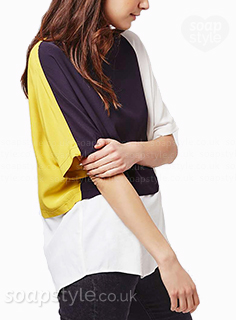 Nancy's Navy Blue & Yellow Top