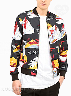 Sean's hawaiian bomber jacket in Corrie - Found - SoapStyle