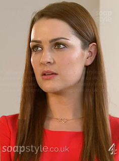 Sienna's heart necklace in Hollyoaks - SoapStyle