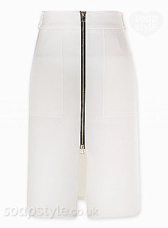 Sienna's White Zip Front Skirt