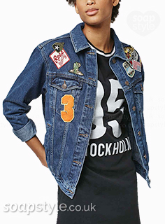 Sonia's Badged Denim Jacket