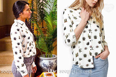 Picture: A Match for Alya Nazir's cactus print shirt in Coronation Street