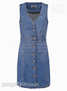 Rhona's denim dress in Emmerdale - Where From - SoapStyle