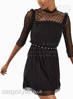 Sarah-Louise's Black Star Mesh Dress