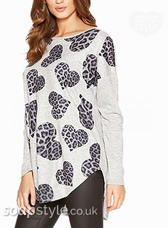 Kerry's Animal Print Heart Top