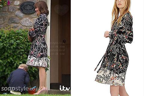 The floral dress worn by Rhona Goskirk on TV this week in Emmerdale