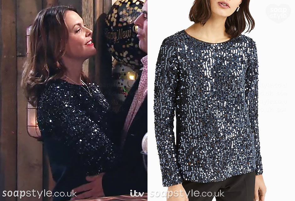 The sequin top Tracy Barlow wore on New Years eve in Coronation Street