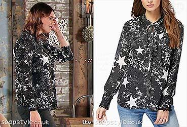 e9d99f2d0a158e The star print shirt worn by Tracy Barlow in the TV Soap Coronation Street