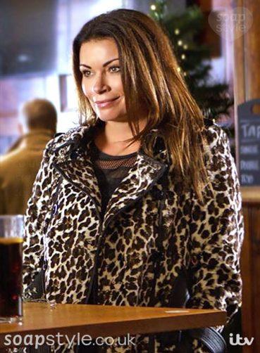 Carla Connor's Leopard Print Coat