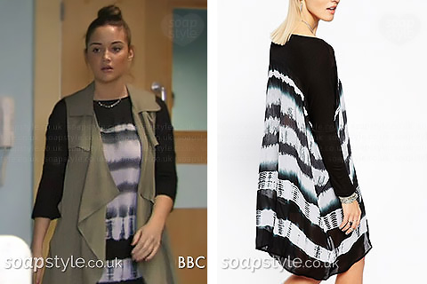 Over-sized tie-dye graphic print top / dress as seen on TV in EastEnders