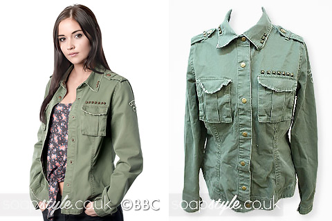Lauren Branning's khaki utility shacket in EastEnders