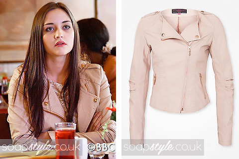 The pink biker jacket Lauren wore in the TV Soap EastEnders