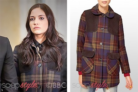 The tartan coat worn by Lauren Branning in EastEnders