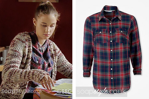 The tartan shirt Lauren Branning (Jacqueline Jossa) wore in EastEnders